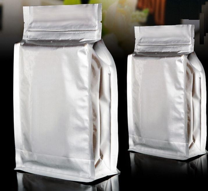 Logotipo personalizado del OEM Película de aluminio Zip Lock Stand up Pouch Bolsas de embalaje de café Bolsas de aluminio con cierre de cremallera Bolsas de papel con soporte de aluminio