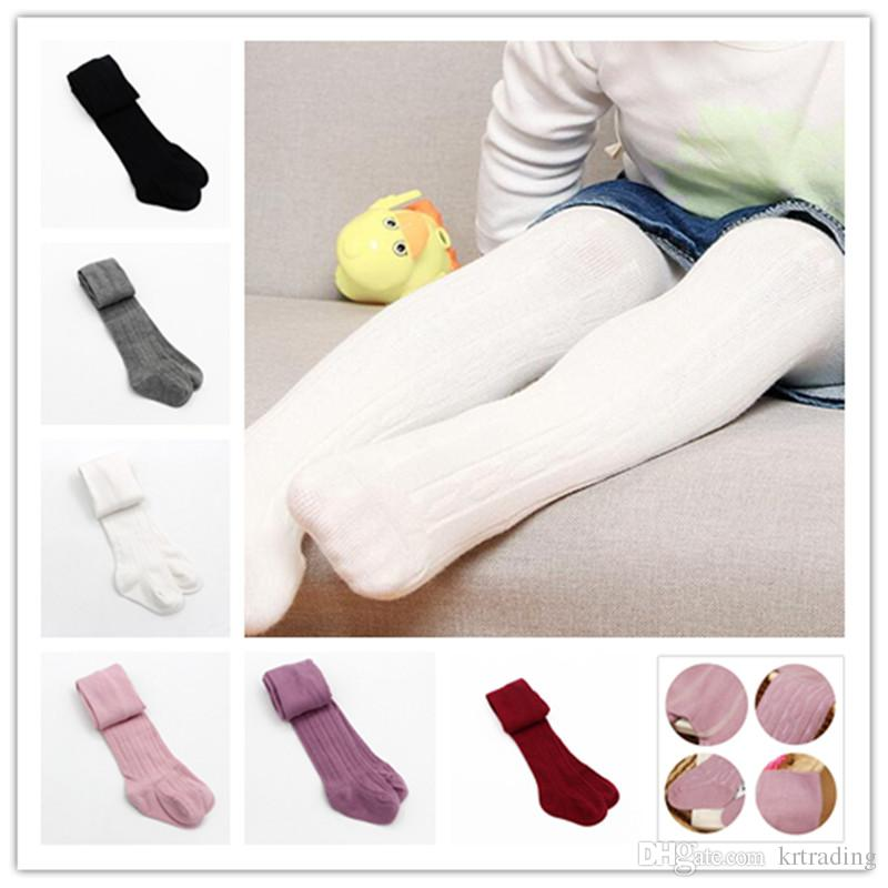 Baby Girls braids Jacquard Pantyhose Ins hot Babyighs Infants Cotton Tights Kids Cute leggings stocking 6colors 3sizes