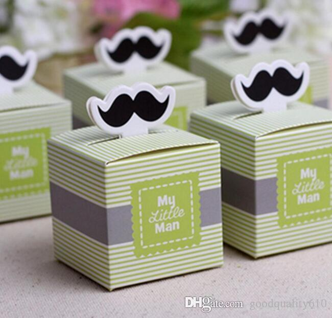 100pcs boîte à bonbons bonbons boîte de chocolats avec ruban pour fête de mariage cadeau de faveur de douche de bébé