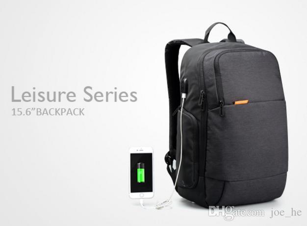 All'ingrosso-Kingson Canvas Marca Zaini esterni USB carica Laptop Backpack antifurto Borsa per computer portatile 15,6 pollici per uomini d'affari