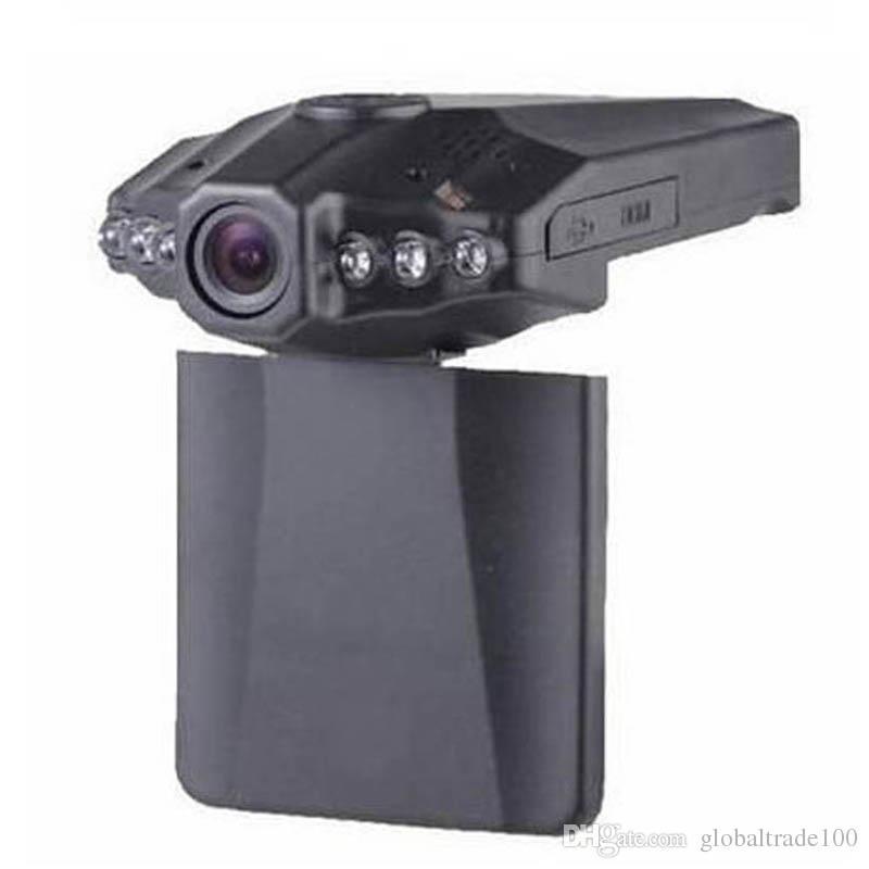 H198 Car DVR BlackBox SunPlus CPU OV 7725 HD720P Szeroki kąt 120 stopni Obrót 2.5 LCD 10 sztuk Darmowy DHL