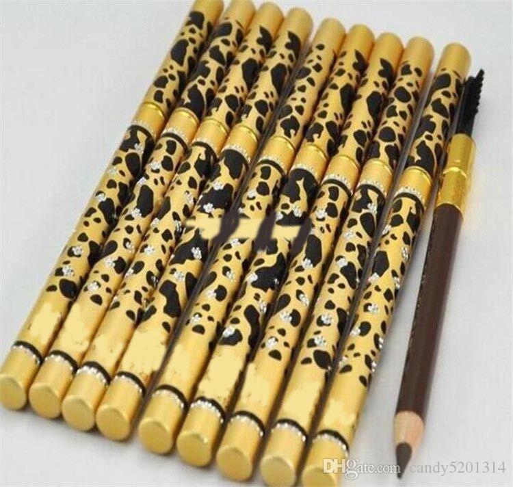 뜨거운 새로운 전문 M 메이크업 눈썹 연필 브러시 블랙, 브라운 표범의 눈썹 연필 무료 배송 L07