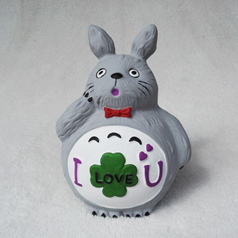 Cartoon piggy bank, piggy bank, creative pottery, white money box, lovely girl, Christmas gift