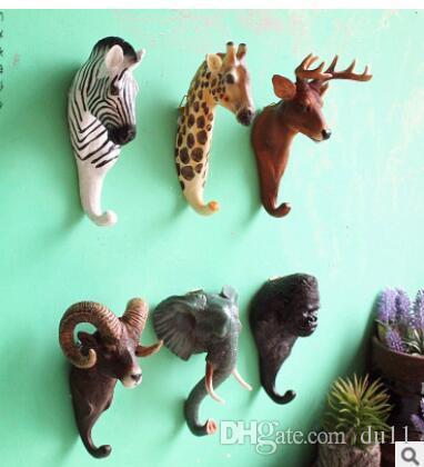 Слон творческая личность стены стерео животных орнамент крюк смолы ремесло стены крюк Оптовая продажа 2 шт.