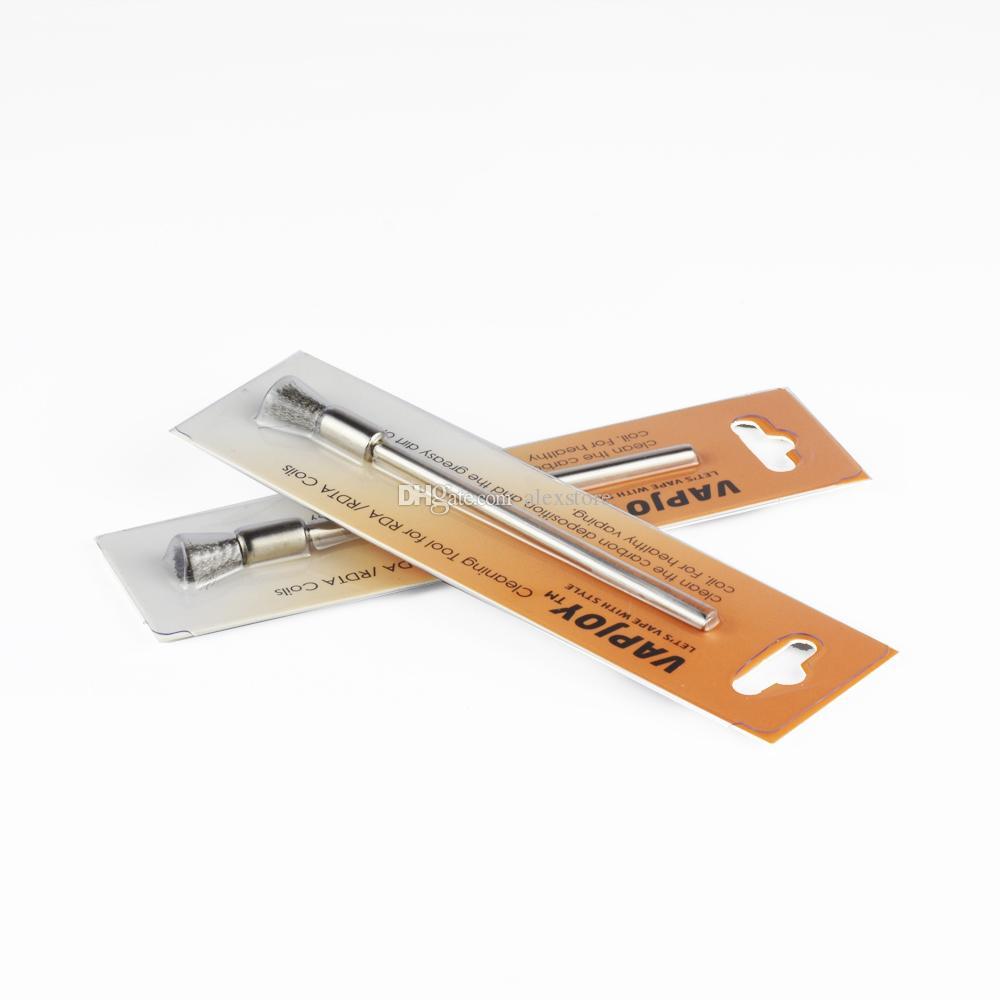 Authentische Reinigungswerkzeug für RDA RDTA RBA Spulen Drähte Zerstäuber Gebürstetem Edelstahl Mini Wachs Clean Tool Pinsel DIY Vaporizer Pen Vape Teil