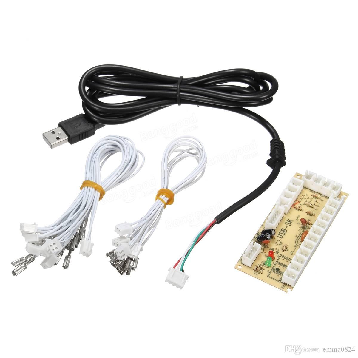 Arcade USB Encoder PC ao Painel de Controle Joystick para MAME 2Pin + SANWA Tipo botões para máquina de jogo de arcada