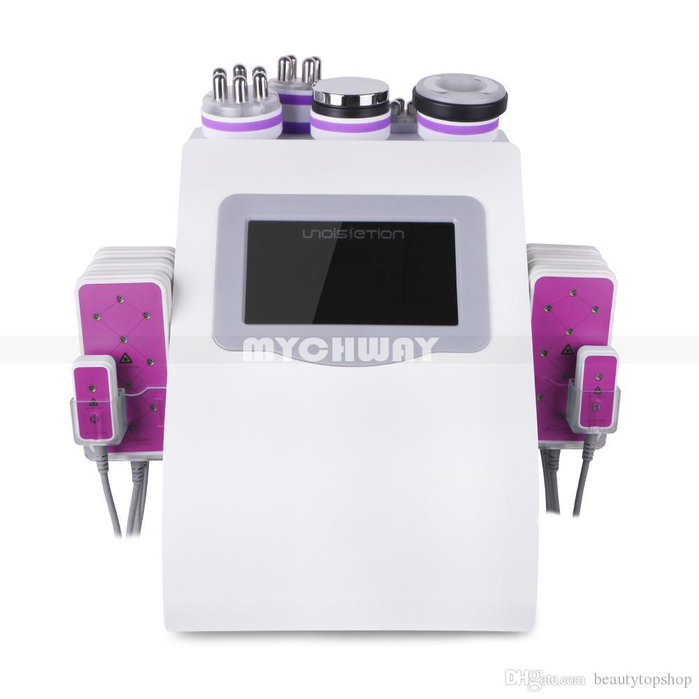 Nova Promoção 6 em 1 ultra-cavitação vácuo Radio Frequency Lipo Laser emagrecimento máquina para Spa
