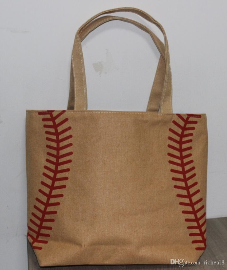 2017 2017 New Small Canvas Bag Baseball Tote Bags Sports Bags ...