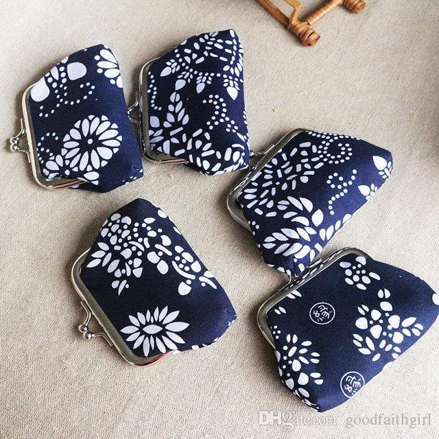 15pcs Fashion Hot Vintage stile etnico fiore portamonete portachiavi tela portamonete portafogli piccoli regali cambiare borsa frizione borsa presente natale