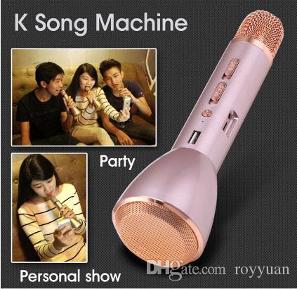 Ubit K088 магия караоке Microfone K песня портативный беспроводной Bluetooth микрофон с Bluetooth динамик Power Bank открытый KTV