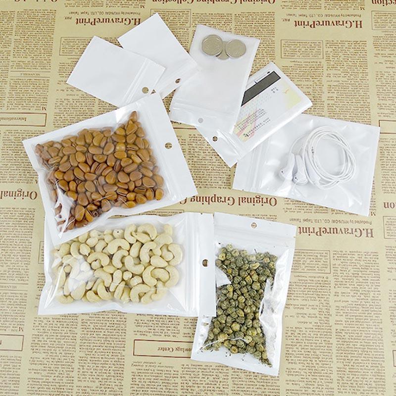 البلاستيك بولي OPP التعبئة والتغليف حقيبة الهاتف الخليوي حالة من البلاستيك الشفاف والأبيض مجوهرات الغذاء PVC حقيبة العديد من حجم متاح