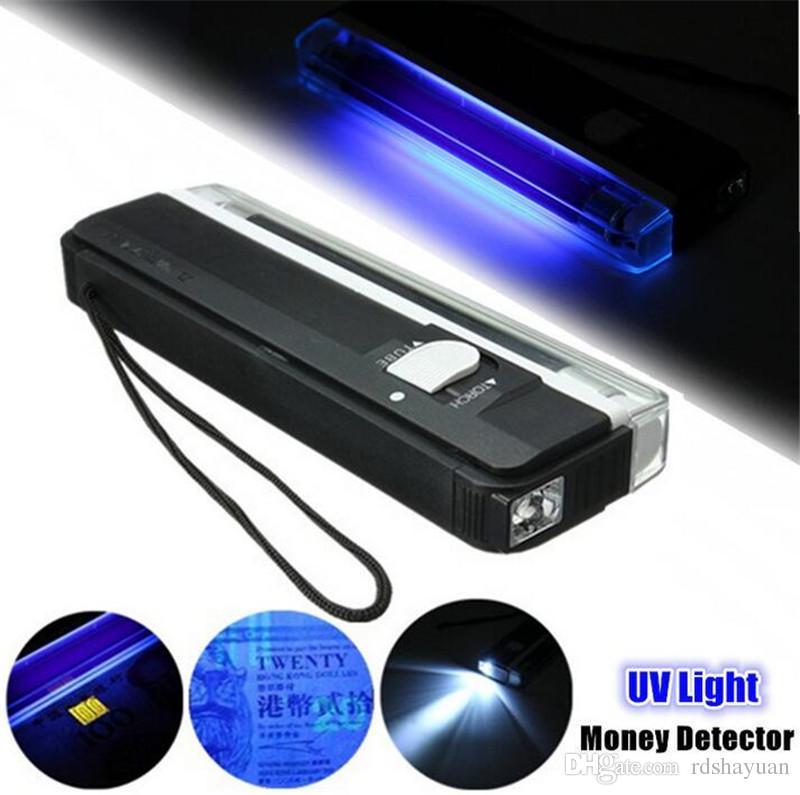 Noir portable lampe ultraviolette 2in1 clignotant torche