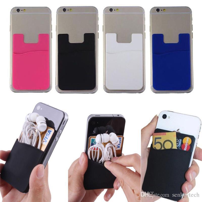 20 adet / grup Ultra-ince Kart Set Kendinden Yapışkanlı Kredi Kartı Cüzdan Kart Tutucu iPhone için Akıllı Telefonlar için X 8 8 ARTı Samsung S9 S9 artı