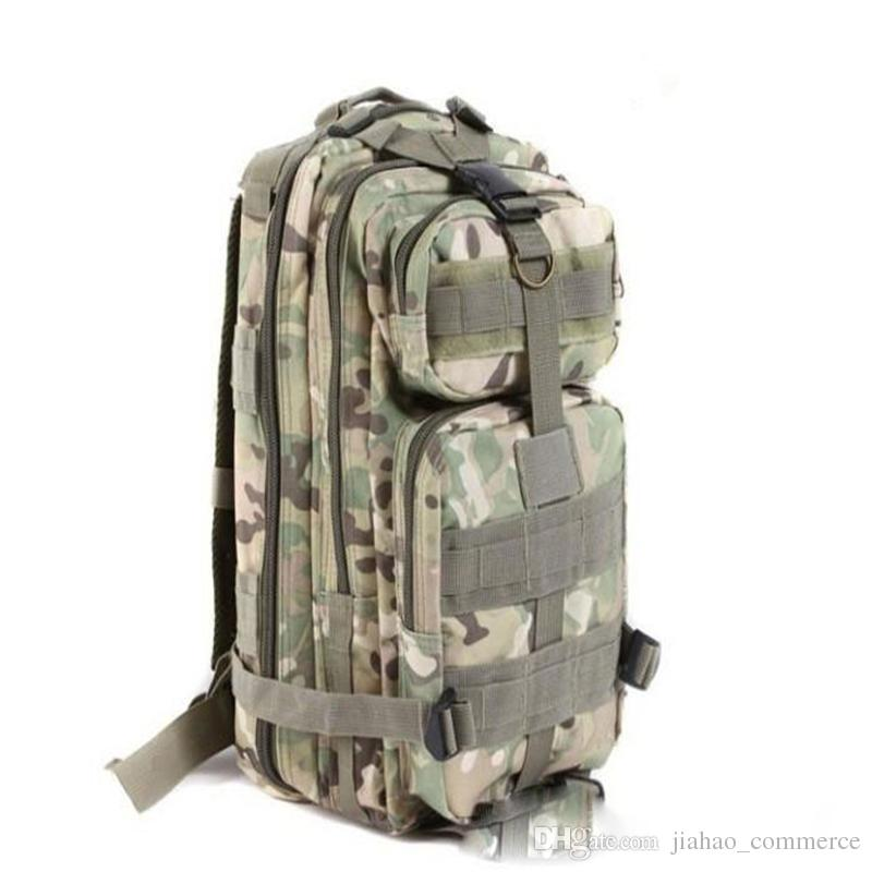 9 color Sport Outdoor camouflage mountaineering bag 3p military Tactical Backpack laptop Molle Rucksacks Camping Trekking bag TOPB1914 50PCS