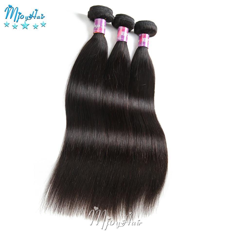 Paquetes de cabello indio recto de la Virgen Cabello humano sin procesar Teje Bundles Extensiones de cabello Enredadera Libre derramamiento de color natural libre