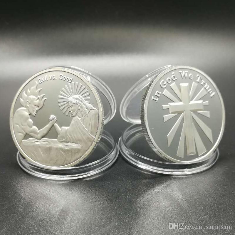 信頼God Jesus Cross Religous Theme Souvenir Coinを信頼している3つのPCS /ロット。