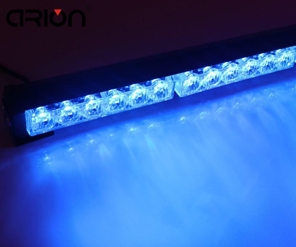 12 LED 스트로브 라이트 자동차 경고 손전등 led 라이트 바 응급 경찰 소방 관 조명 램프 블루 신호등 주도