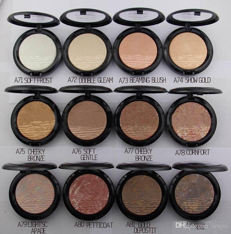 Extra dimension skinfinish Double Gleam Makeup Highlighter Blush Eyeshadow Powder MC 12 color dhl ship