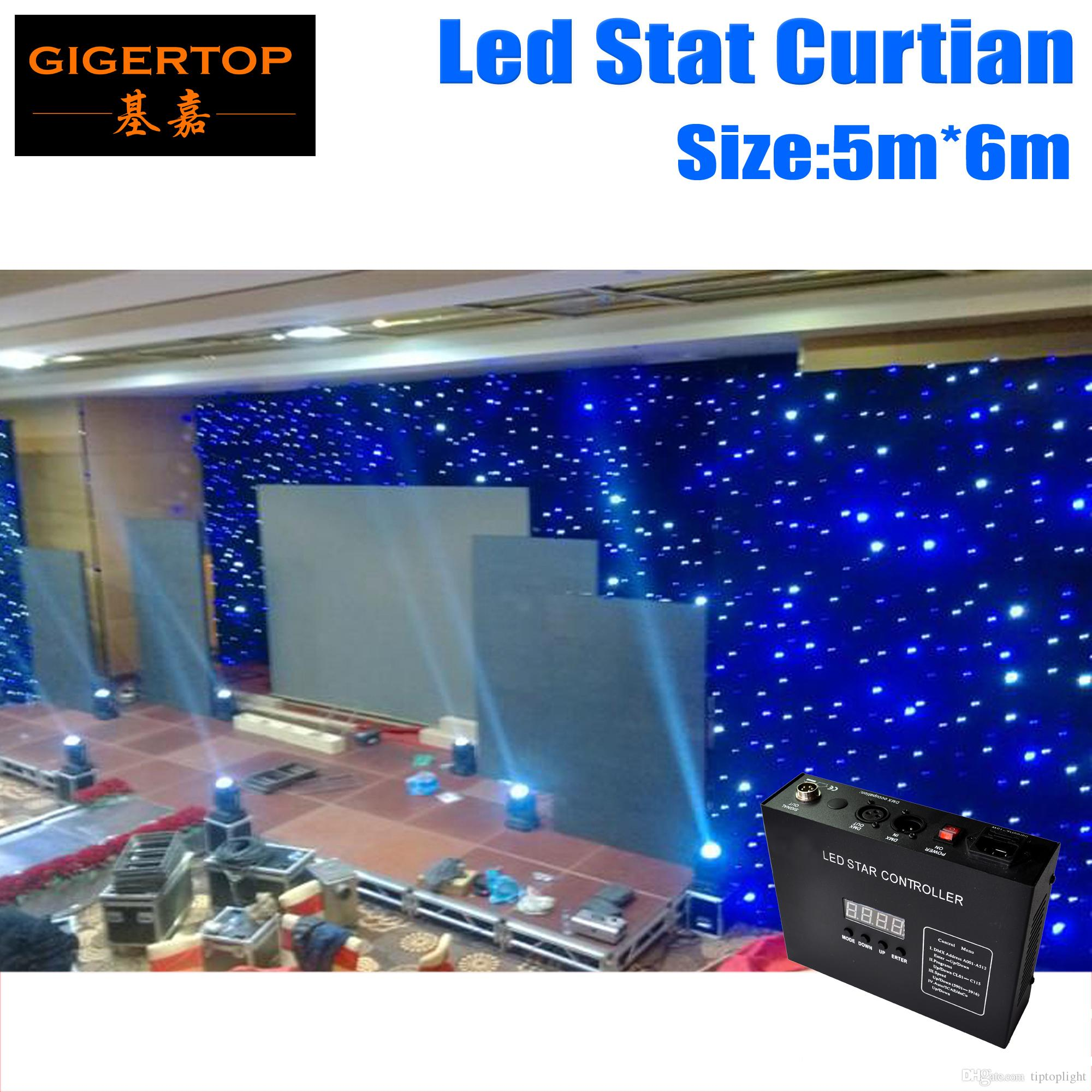 Freeshipping 5M * 6M führte Sterntuch-Bühnenhintergrund Auftrag Kundengebundene LED-Hintergrund-Vorhang-Schirm-Pixel-Neigung fertigte 5mm RGB farbenreich besonders an