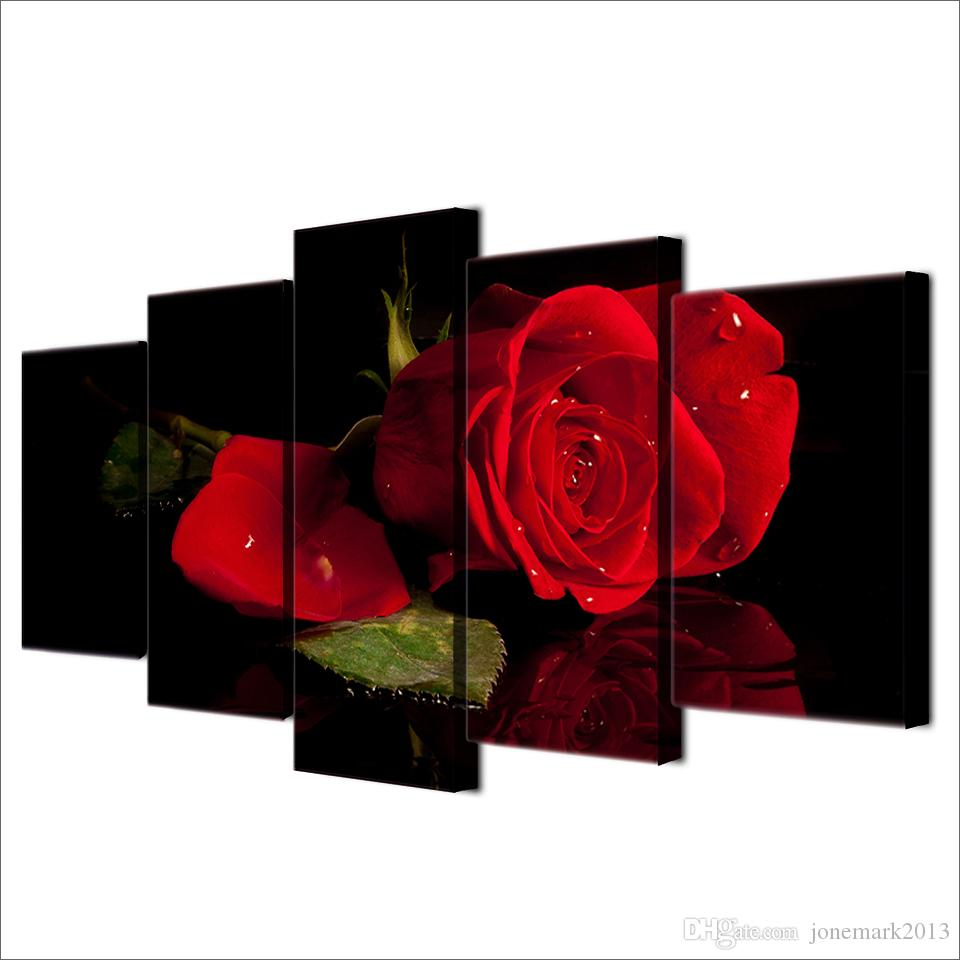 ONE PIECE POSTER RED ROSES ABSTRACT WALL ART