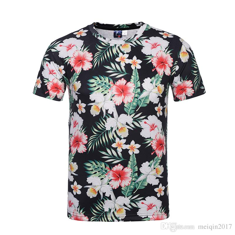 Acheter Les Hommes T Shirts Fleurissent 3