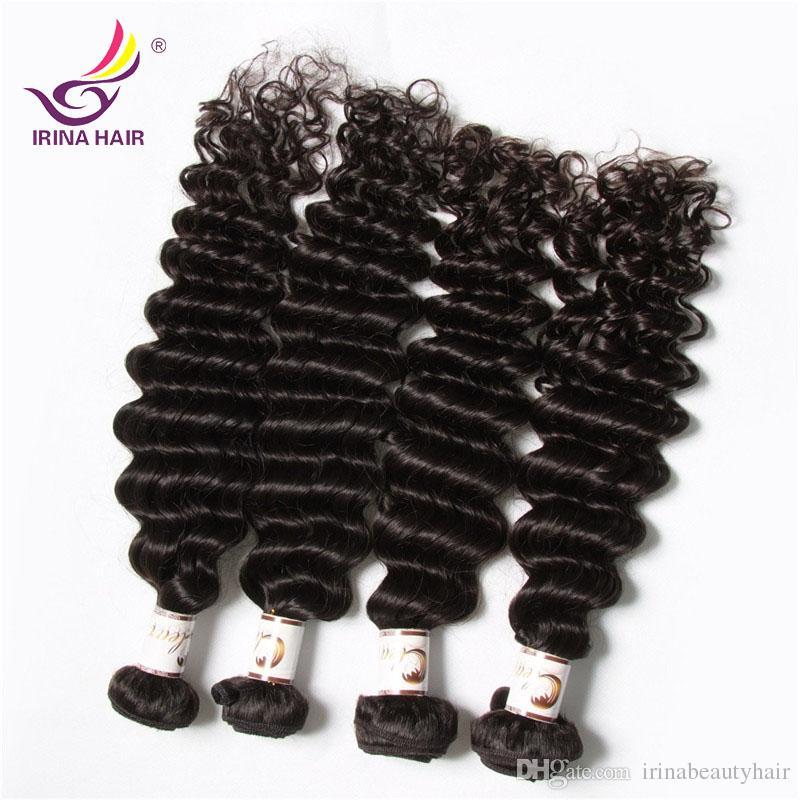20% Off 2017 новое прибытие Dyeable перуанский малазийский Бразильский Девы волос Deep фигурная Wave 4 Связки / серия Уток человеческих волос