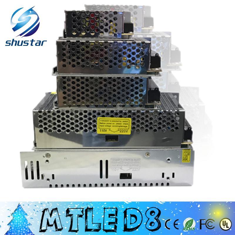 Desempenho AC 85 V ~ 265 V para DC 24 V 2A 3A 5A 10A 20A 25A 40 W ~ 600 W Interruptor Do Transformador de Alimentação para Led Faixa de luz LED billboard
