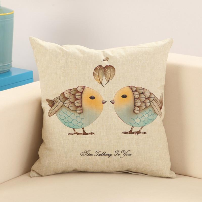 Cotton Pillowcase Bronzing Bedroom Easy To Wash 1pc Length 45cm Cushion Cover HY