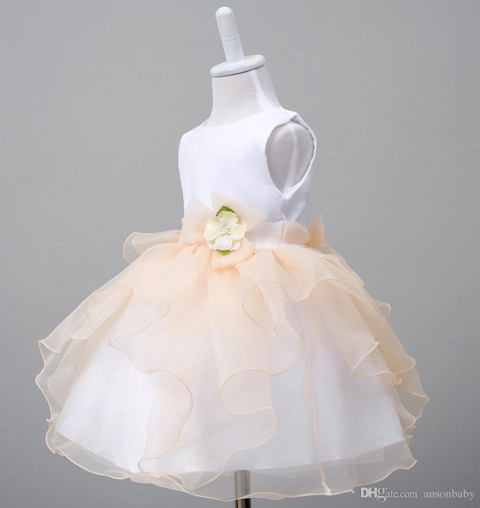 Großhandel Baby Taufkleid Vestido Kleinkind Mädchen Kleider ...