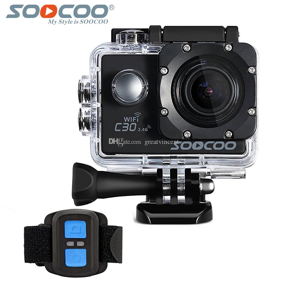 SOOCOO C30R 4K Sports Camera Wifi Gyro NTK96660 30M Waterproof Adjustable Viewing angles Action Camera with 2.4G remote