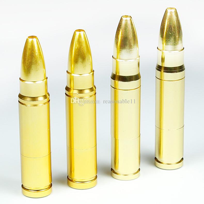 78mm Metal Boru Yaratıcı Boru Mermi Şekli Filtre ile Sigara Boruları İhracat Kaliteli Ürün Chioced Hediye