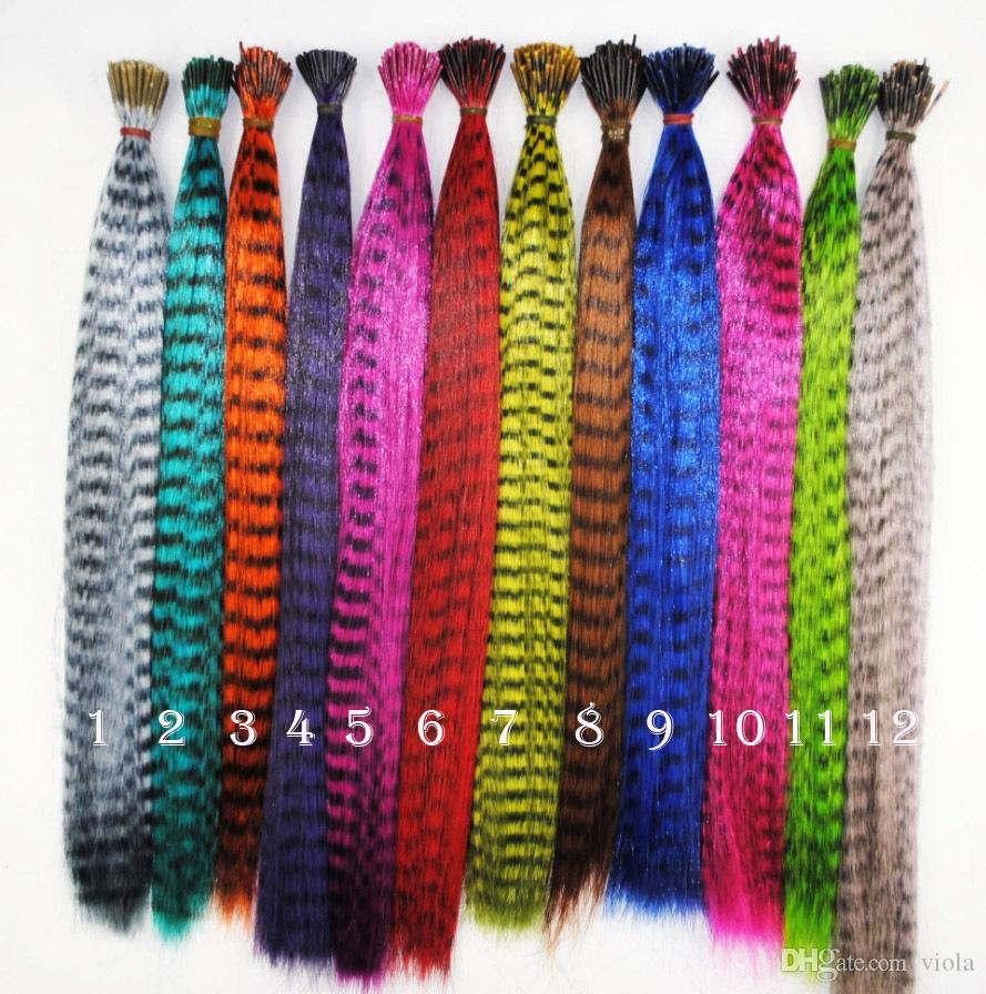 Grizzly Rooster Feather Hair Extension Feathers Extensions good quality Elites Fashion 12 colors 9000pcs lot