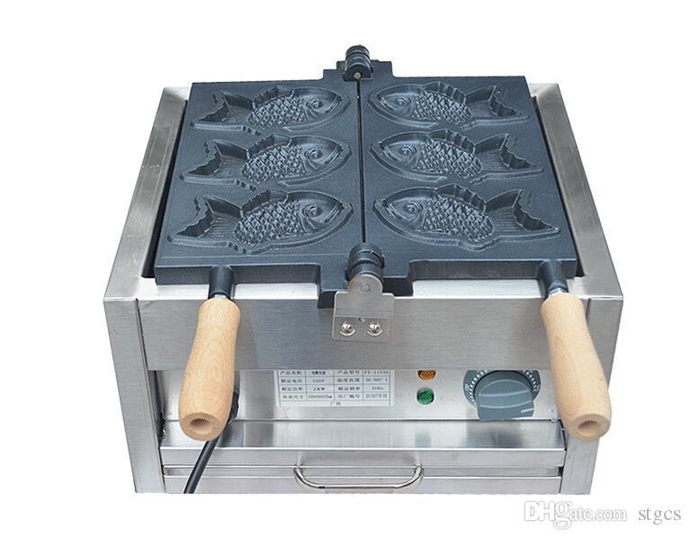 Livraison Gratuite 110V / 220v Électrique 3 Pcs Poisson Taiyaki Maker Machine Poisson Gaufre Fer Snacks Équipement