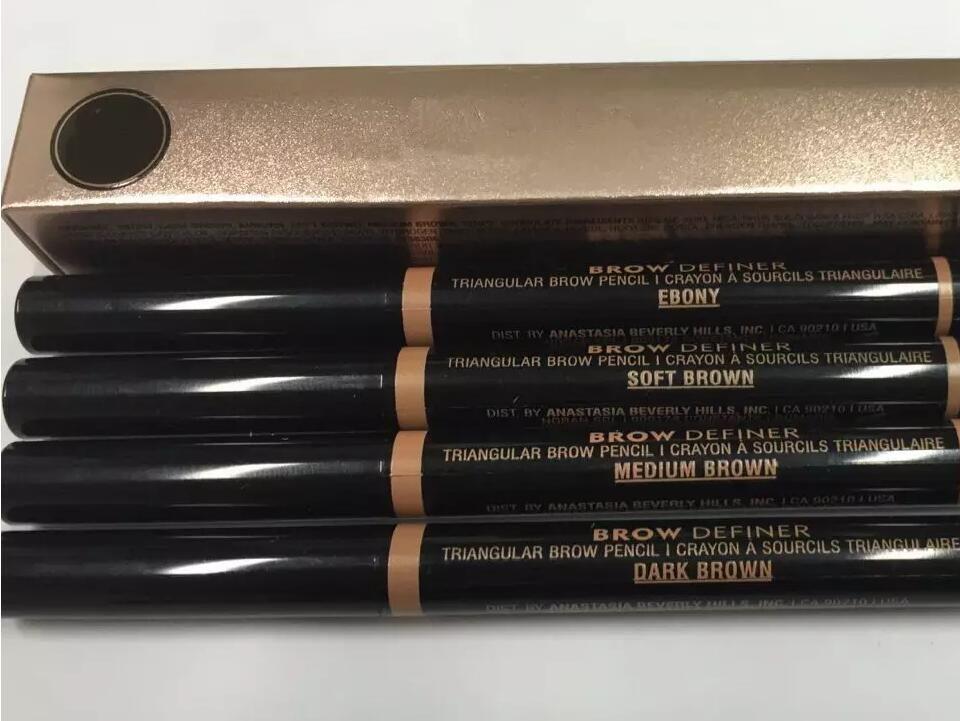 TRUCCO Doppia matita per sopracciglia BROW PENCIL CRAYON EBONY / SOFT BROWN / MARRONE SCURO / MARRONE MEDIO / cioccolato DHL Spedizione gratuita