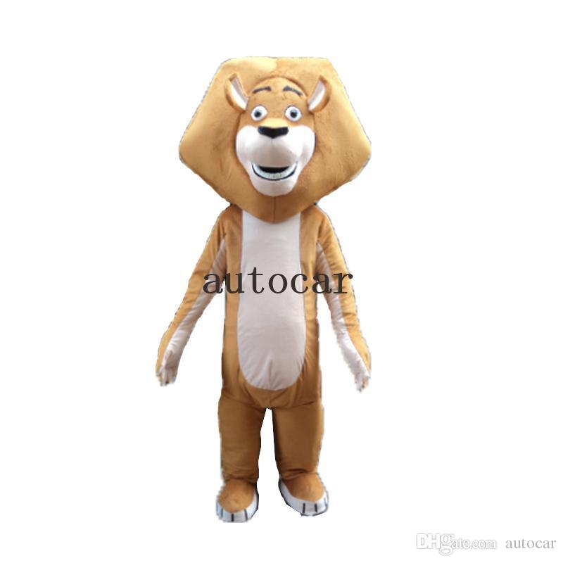 Hot animal lion Pelzigen Polar Cartoon Maskottchen Kostüm Party Kostüm Erwachsene Größe Freies Verschiffen Große Hohe Qualität