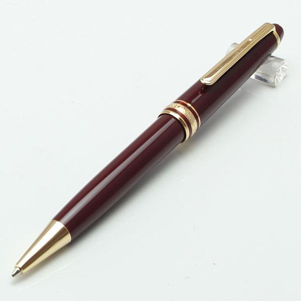 Luxo 163 caneta de resina vermelha Masterpiece Borgonha Rollerball caneta e esferográfica com número