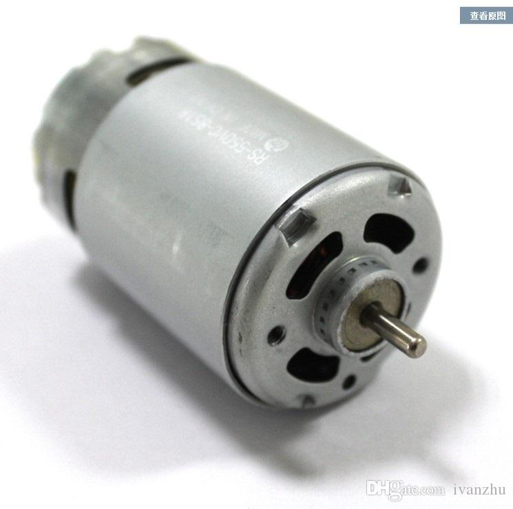 Eje estándar de 550 dc motor, 12V micro dc motor, alta velocidad, 3.175 diámetro eje, bricolaje de perforación del motor