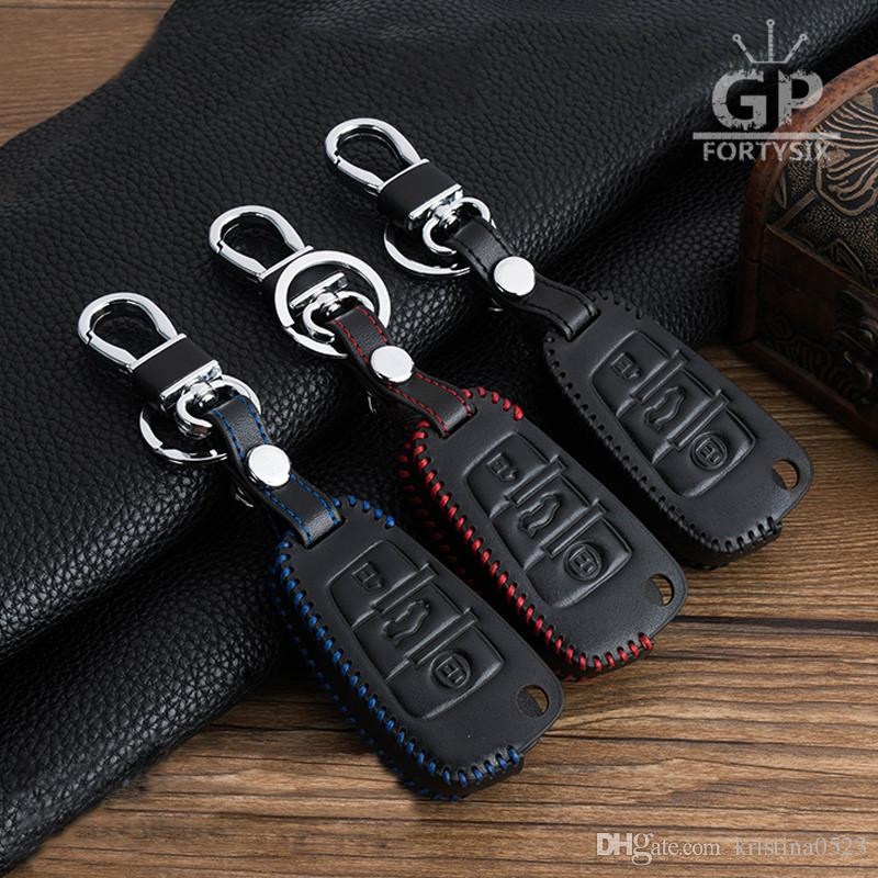 For Audi R8 A7 S8 Q5 A8 Car Smart Remote Key Fob Case Holder Leather Cover Bag