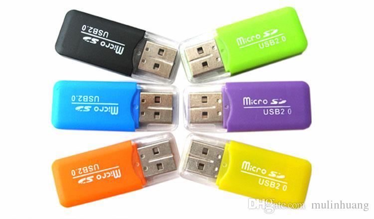 High Speed Card Reader USB 2.0 Micro SD card T-Flash TF M2 Memory Reader adapter 2gb 4gb 8gb 16gb 32gb 64gb TF Card DHL Free Shipping MQ500