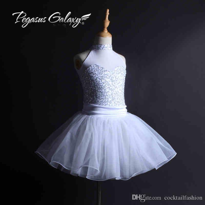 Girls Stage Show Ballet Dancing Skirt 2018 New White Custom Made Children Adult Competition Ballet Dance Costume Tutu