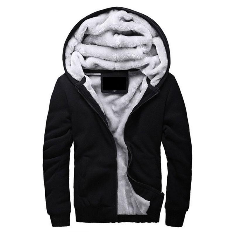 Venda por atacado - Venda quente dos homens com capuz casuais Marca Hoodies Roupas Forro de lã Mens inverno engrossado Casaco quente Masculino M-4XL Camisolas Outwear