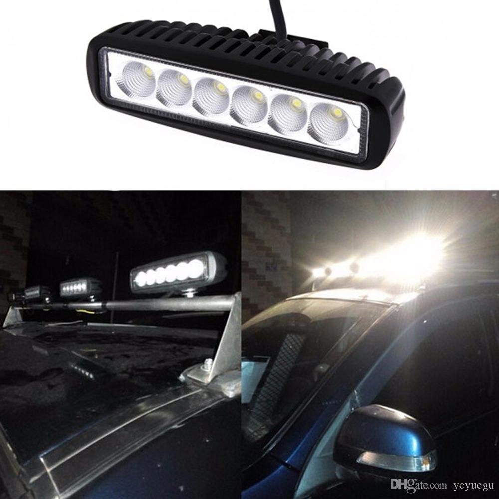"6"" Slim 18w 6X3W LED Work Light Spot Beam ATV 4X4 Off-Road Light Lamp Wholesale IP67 driving Bar 4WD truck Car Epsitar LED"