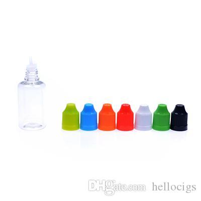 2017 new 1000pcs 5ml 10ml 20ml 50ml Empty E Liquid oil Plastic Dropper Bottles with Child Proof Bottle caps Needle Tips