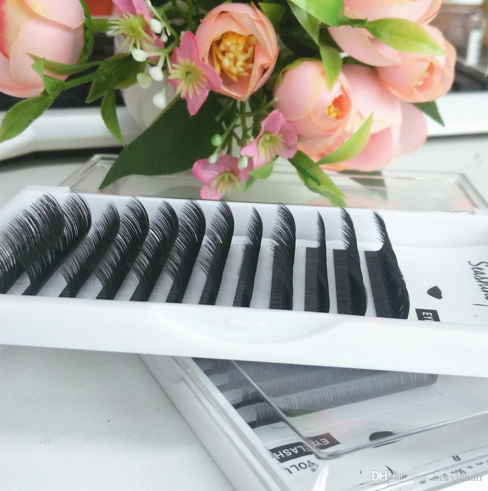 Korea Eyelash Extensions Individual Lashes For Building Mink Volume C/D/L Curl False Eyelashes High Quality free shipping