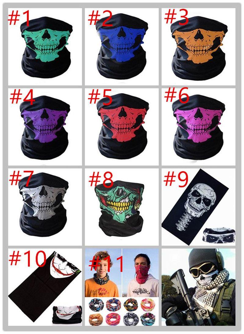 Buy Unisex Halloween Cosplay Bicycle Ski Skull Half Face Mask ...
