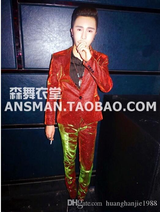 bc488d5513 S 5XL 2017 New Men'S BIGBANG Gold Color Gradient Glitter Suit Performance  Coat Formal Dress Singer Costumes Clothing Men Suits Canada 2019 From ...