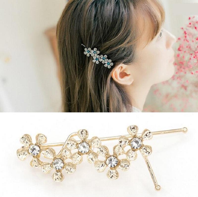 pinzas para el pelo pinzas para el pelo pinzas para mujeres niña accesorios para el cabello sostenedor del sombrero bollo encantador cystal flor dulce