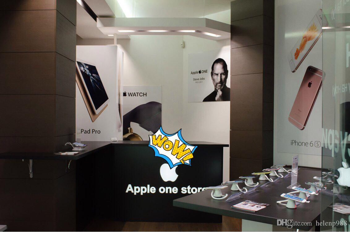 universal mobile charging and alarm display security stand for protection cell phone exhibition on retail shop