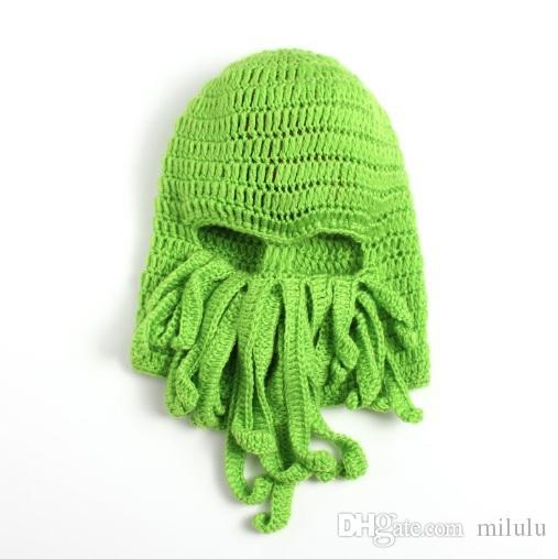 Großhandel Unisex Octopus Beanie Squid Caps Männer Tentacle Strick ...