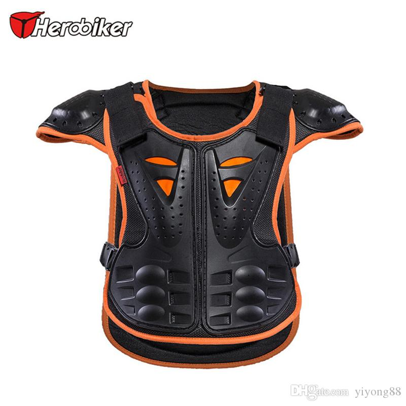 HEROBIKER Kids Armor Motocross Protect, Child Skiing Skating Spine Shoulder Chest Guard Mesh cloth fit 4~10 year olds